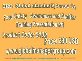 BRC Food Safety Management System Awareness & Auditor Traini