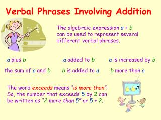 Verbal Phrases Involving Addition