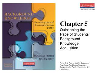 Chapter 5 Quickening the Pace of Students' Background Knowledge Acquisition