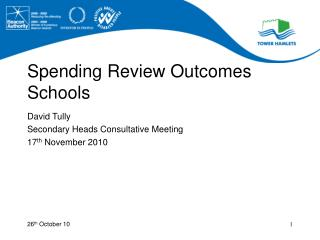 Spending Review Outcomes Schools