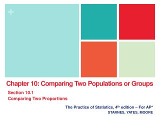 The Practice of Statistics, 4 th  edition � For AP* STARNES, YATES, MOORE
