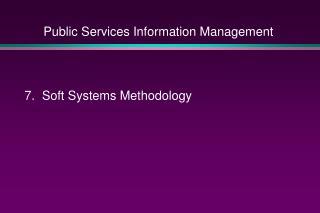 Public Services Information Management