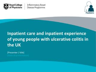 Inpatient care and inpatient experience of young people with ulcerative colitis in the UK