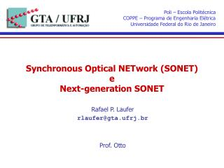 Synchronous Optical NETwork (SONET) e Next-generation SONET