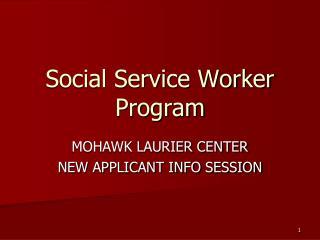 Social Service Worker Program