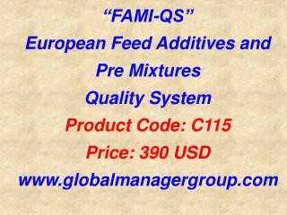 FAMI–QS Certification Training