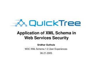 Application of XML Schema in Web Services Security