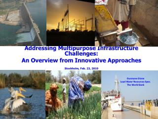 Addressing Multipurpose Infrastructure Challenges: An Overview from Innovative Approaches
