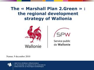 The « Marshall Plan 2.Green » : the regional development strategy of Wallonia