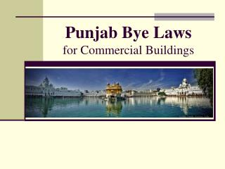 Punjab Bye Laws for Commercial Buildings