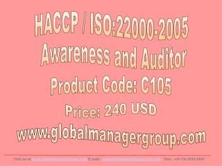 ISO 22000 Training