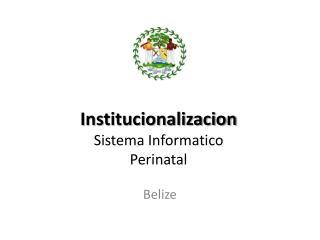 Institucionalizacion Sistema Informatico Perinatal