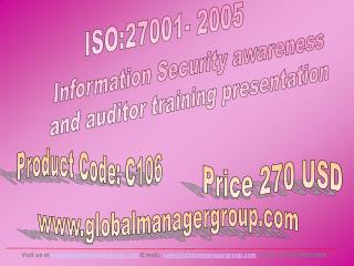 ISO 27001 Information Security Trainign