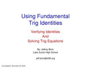 Using Fundamental Trig Identities