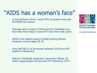"""AIDS has a woman's face"""