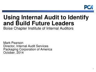 PCA and PCA internal audit overview The metrics:  how successful have we been?