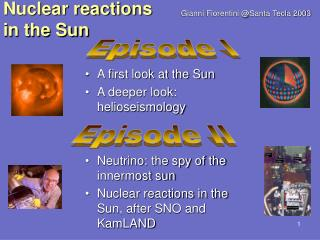 Nuclear reactions in the Sun