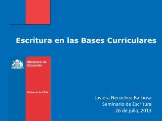 Escritura en las Bases Curriculares