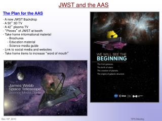 JWST and the AAS