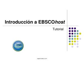 Introducci�n a EBSCO host