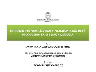 HERRAMIENTA PARA CONTROL Y PROGRAMACI N DE LA PRODUCCI N EN EL SECTOR AGR COLA