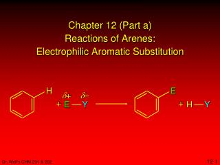 Chapter 12 (Part a) Reactions of  Arenes : Electrophilic  Aromatic Substitution