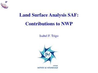 Land Surface Analysis SAF: Contributions to NWP Isabel F. Trigo