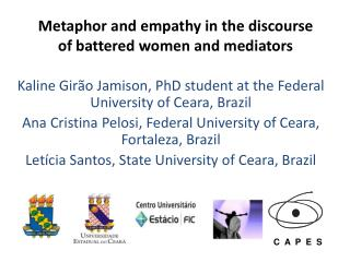 Metaphor and empathy in the discourse of battered women and mediators