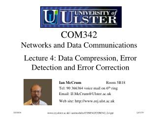 COM342 Networks and Data Communications