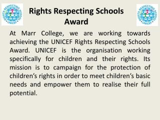 Rights Respecting Schools Award