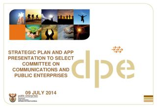 STRATEGIC PLAN AND APP PRESENTATION TO SELECT COMMITTEE ON COMMUNICATIONS AND PUBLIC ENTERPRISES