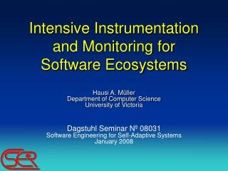 Intensive Instrumentation and Monitoring for Software Ecosystems