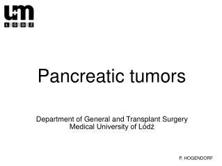 Pancreatic tumors