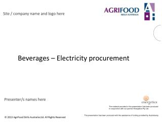 Beverages – Electricity procurement