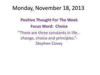 Monday, November 18, 2013