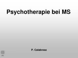 Psychotherapie bei MS