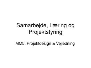 Samarbejde, Læring og Projektstyring