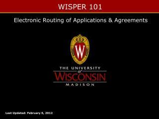 WISPER 101