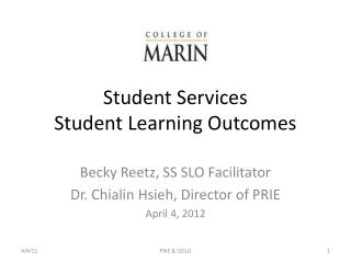 Student Services  Student Learning Outcomes