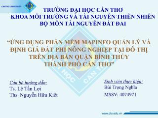 Cán bộ hướng dẫn: Ts. Lê Tấn Lợi Ths. Nguyễn Hữu Kiệt