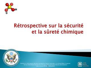 Rétrospective sur la sécurité et la sûreté chimique