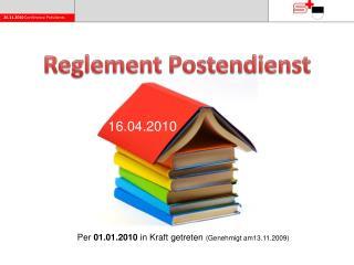 Reglement Postendienst