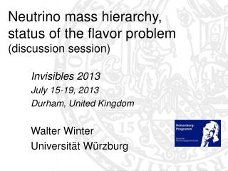 Neutrino mass hierarchy, status of the flavor problem (discussion session)