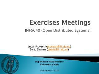 Exercises Meetings
