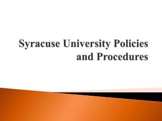 Syracuse University Policies and Procedures