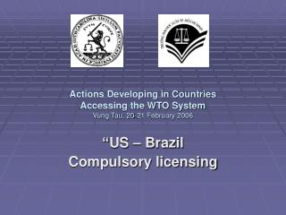 Actions Developing in Countries  Accessing the WTO System Vung Tau, 20-21 February 2006