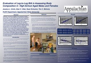 Evaluation of Leg-to-Leg BIA in Assessing Body Composition in  High-School Aged Males and Females