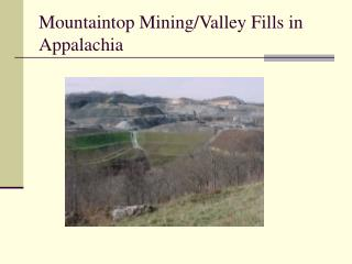 Mountaintop Mining