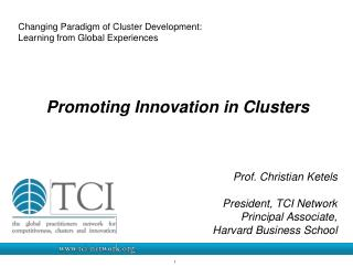 Changing Paradigm of Cluster Development:  Learning from Global Experiences