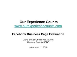 Our Experience Counts ourexperiencecounts